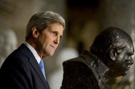 "Secretary of State John Kerry relayed the Churchill ""Drunk and Ugly"" story. (Douglas Graham/CQ Roll Call.)"