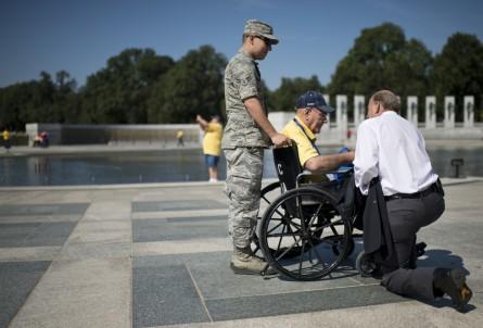 World War II veterans were not about to be denied. (Bill Clark/CQ Roll Call.)