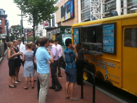 The crowds go wild for Captain Cookie's ice cream sandwiches. (Jason Dick/CQ Roll Call)