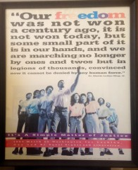 """Levensaler was told to take down his 1993 LGBT March on Washington poster because it was """"creating a hostile work environment."""" Photo courtesy Jeffrey Levesaler"""