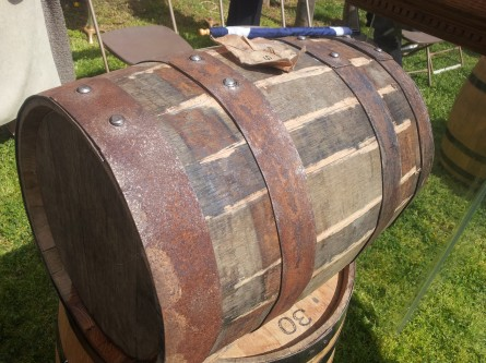 Cask of single malt whisky at Mount Vernon Distillery