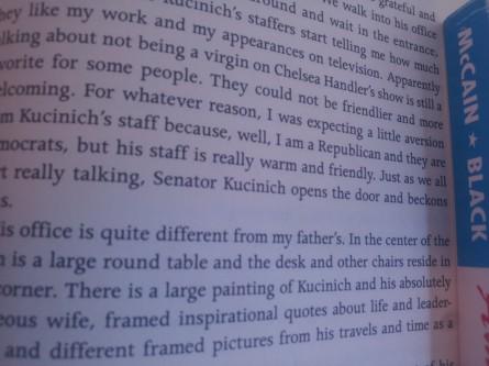 Senator Kucinich mention