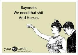 Bayonets and Horses card