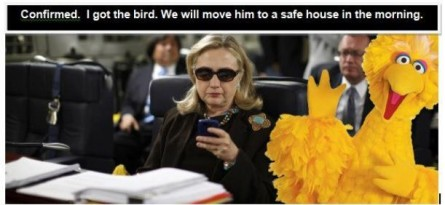 HIllary evacs Big Bird