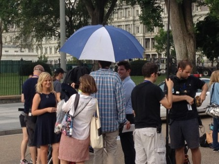 Amy Poehler and Adam Scott in DC