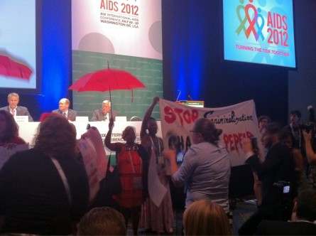 PEPFAR protestors at International AIDS Conference