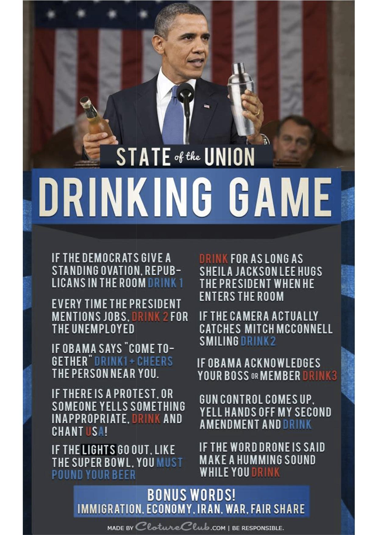SOTU drinking game