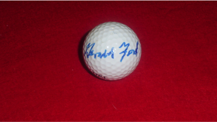 Gerald Ford golf ball