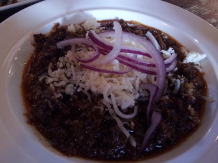 Chef Teddy Folkman's bison chili