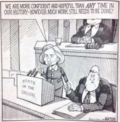 A cartoon published in the January 26th, 1998 edition of Roll Call.