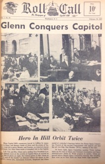 The front page from Col. John Glenn's visit to the Capitol.