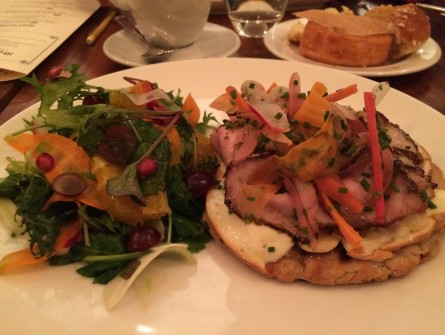 Porchetta on Rye, one of Casa Luca's signature brunch items.