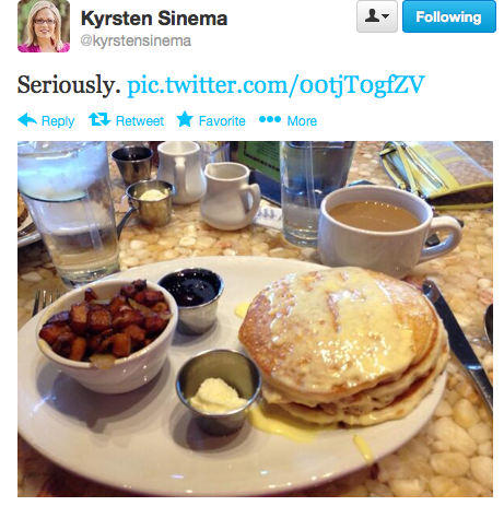 Kyrsten Sinema at brunch