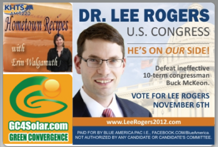 Lee Rogers ad on KHTS site