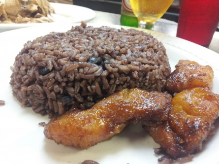 Arroz moro and plantains at La Teresita