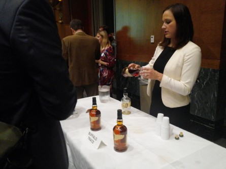 Buffalo Trace Distillery helped raise spirits at the National Bison Day reception on Capitol Hill. (Warren Rojas/CQ Roll Call)