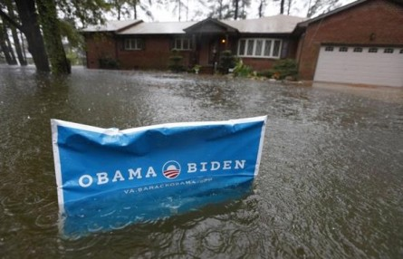 Yard sign vs. Sandy