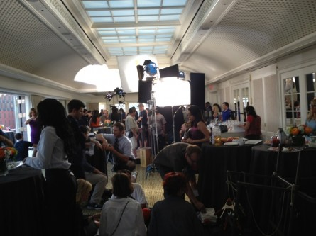 Parks and Recreation shoot at the Hay Adams