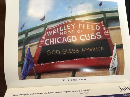 Wrigley Field gets the Roskam treatment. (Jason Dick/CQ Roll Call)