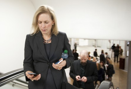 Sen. Kirsten Gillibrand, distracted walker? (Douglas Graham/CQ Roll Call File Photo.)