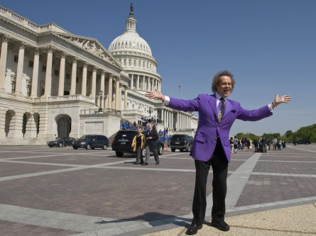 Richard Simmons wants people on the Hill to be happy! (CQ Roll Call File Photo.)