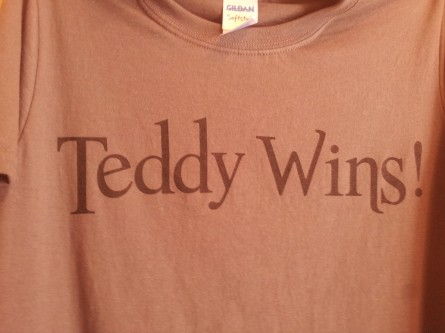 "Bullfeathers' ""Teddy Wins"" t-shirt"