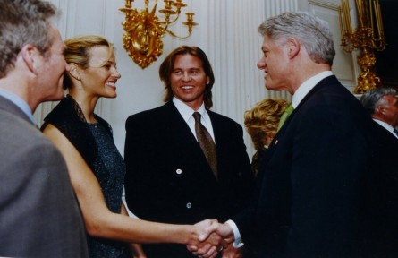 Val Kilmer meeting President Bill Clinton