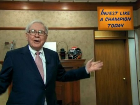 Warren Buffett inspirational signage