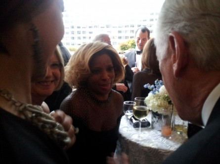 Steny Hoyer meeting Mary J. Blige