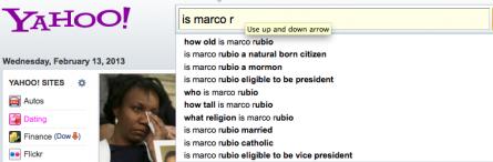 Yahoo! Rubio search