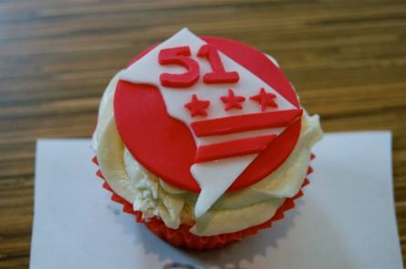 DC statehood cupcake