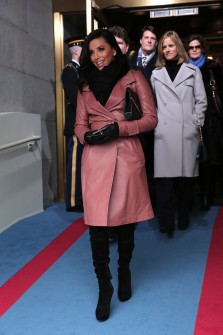 Longoria arrives for Obama's 2013 inauguration on the West Front of the Capitol on Jan. 21. (CQ Roll Call file photo.)