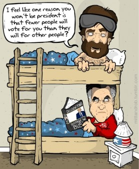 Mitt and Rob bunkbed post