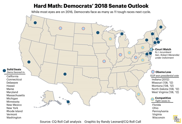 2018 midterm elections map