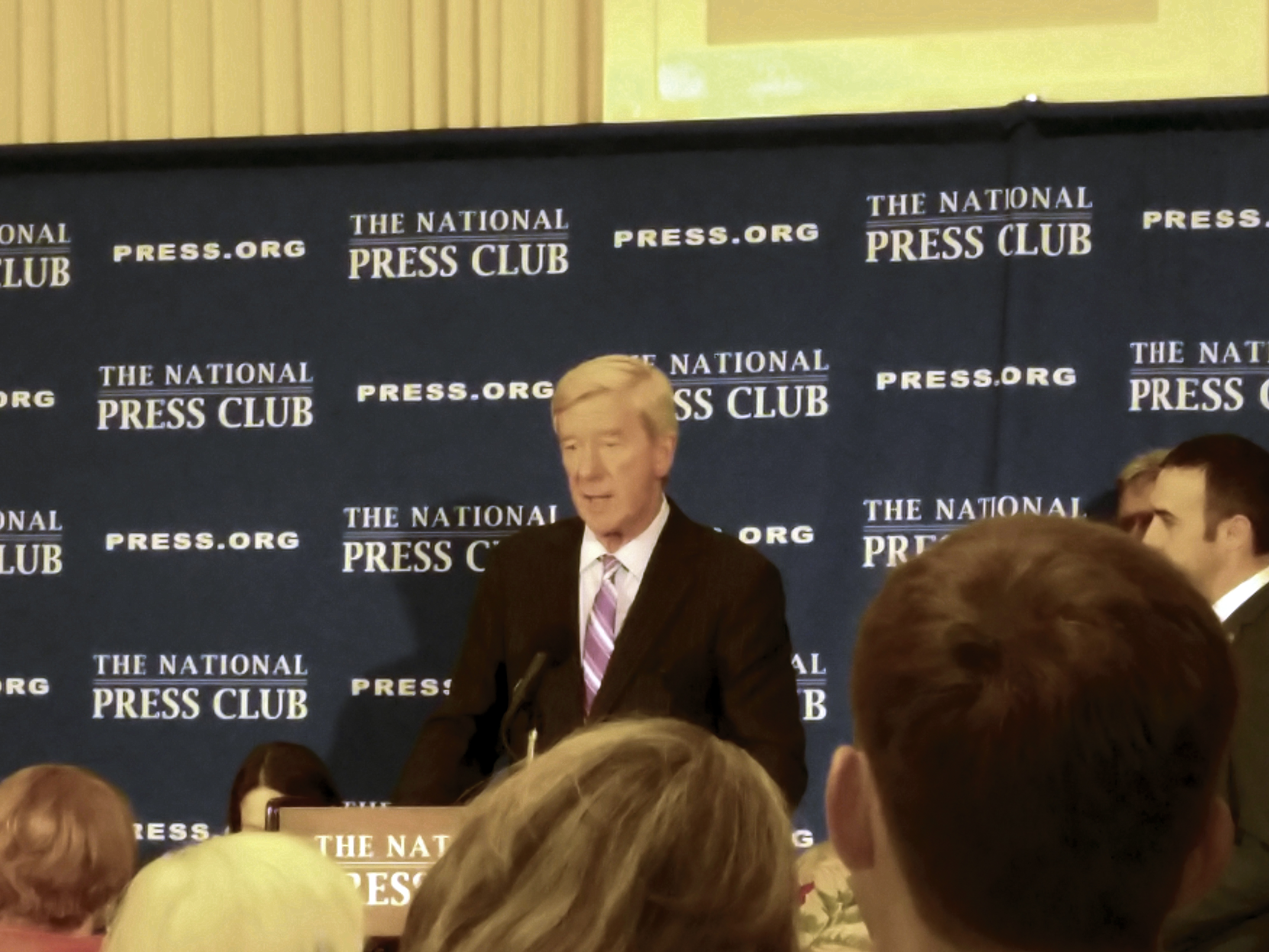 Libertarian vice presidential nominee Gov. William Weld answered questions about his latest campaign during an appearance at the National Press Club. (Warren Rojas/CQ Roll Call)